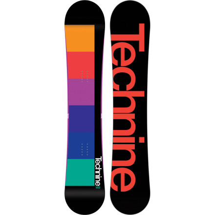 Snowboard The Technine Spectrum Snowboard offers a mellow, forgiving ride ideal for everything from learning to link turns to your first spin off a park jump. Progress more and fall down less, thanks to the edge-catch-eliminating 9Rocks Reverse Camber profile and women's-specific flex and waist width. - $191.97
