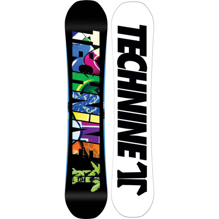 Snowboard The Technine Burner Snowboard features the easy-riding 9Rocks reverse-camber profile for effortless presses and no-hook landings. Butter, bonk, and spin your way from park jumps to street rails with the Burner's true twin shape and mellow flex. - $227.97