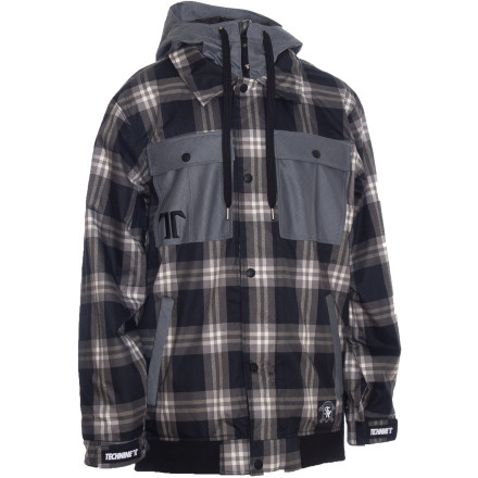 Snowboard Flannels look dope, but getting wet sucks. Get the best of both worlds in the workwear-inspired, fully waterproof Technine Flannel Jacket. - $116.98