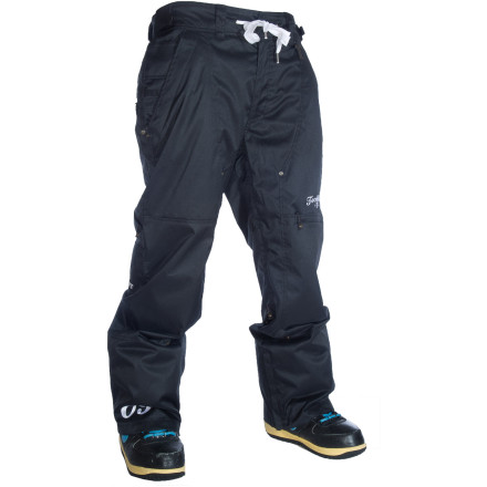 Snowboard The Technine Rugby Pant has all the important stuff like a 10K-rated waterproof membrane and inner thigh vents, as well as dope details like a drawstring waist and contrast-color accents. From street sessions to pow days, the Rugby pant keeps you warm, dry, and looking fresh. - $79.98