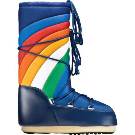 The Tecnica Women's Rainbow Boots wrap your feet in over-the-top fashion and toasty, space-age insulation. Wear these retro boots to the winter's biggest parties or on space expeditions to distant planets. - $104.97