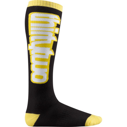 Snowboard Swing for the fences in the ThirtyTwo Slugger Sock. Your feet will stay just the right temperature, thanks to the versatile mid-weight fabric with CoolMax wicking material to prevent swamp-foot during the spring. - $14.27