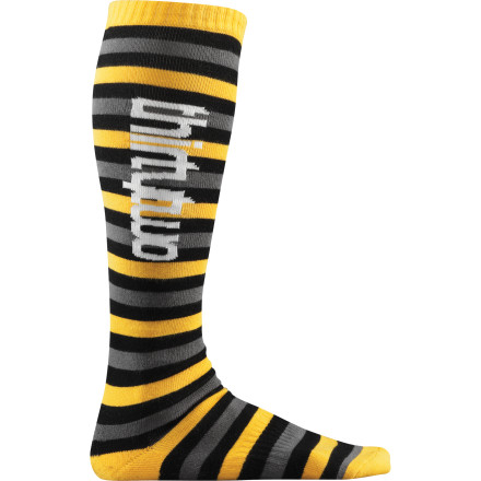 Snowboard The lightweight, moisture-wicking ThirtyTwo Bars and Stripes Sock is ideal for warmer temperatures, or riders with tight-fitting boots who prefer minimal padding underneath. - $10.77