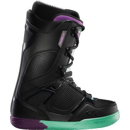 Snowboard For boasting a comprehensive list of comfort and performance-driven tech, the ThirtyTwo Women's TM-Two Snowboard Boot sure does present itself in a streamlined package. But whoever said having a bulky exoskeleton had to be paired with the features needed for not getting fatigued after a day of riding powder or making endless park laps Certainly not the developers and riders at ThirtyTwo. - $188.96