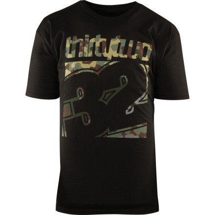 Entertainment Not entirely unlike those pizza-seasoning infused, faux-cheese stuffed pretzel rounds, the ThirtyTwo Combo Fade T-Shirt makes any evening getting sauced til you pass out spooning a mangy dog just a little more tasty. - $14.59