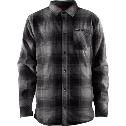 Button up in your Thirty Two Grizzly Flannel Long-Sleeve Shirt, grow out your beard, and start hanging out around strangers' campsites. Just stand there on the edge of the shadows and stare. - $67.46