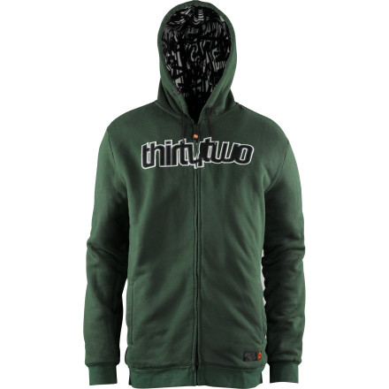 Stay warm when you're walking to class on brisk autumn mornings with the fleece-lined ThirtyTwo Double Up Fleece Men's Full-Zip Hoodie. - $67.46