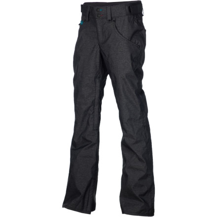 Snowboard Unless it's Gaper Day, leave the skinny jeans at home and throw on the ThirtyTwo Wooderson Women's Snowboard Pant. The 10K-rated twill fabric is tough and waterproof to keep you dry throughout the season, and the Skinny Fit cut is slim without being too tight so you can layer underneath when temperatures dip. - $59.48