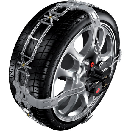 Entertainment The Thule K-Summit Snow Chains for Cars quickly and simple installs so precious moments aren't lost at a check point fumbling with old-fashioned, hard-to-install tire chains. - $494.96