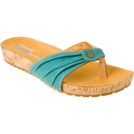 Entertainment The Timberland Women's Earthkeepers Thong Sandal makes your life a whole lot easier and more comfortable this summer. Its easy slip-on style and thong look means you won't be fussing on what sandals to wear with what outfit. - $27.98