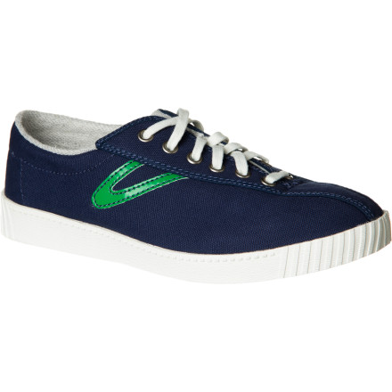 You might not hang out at a tennis club, but that doesn't mean you can't appreciate the classic tennis styling of the Tretorn Women's Nylite Canvas Shoe. If you do frequent the grass, clay, or hard courts, then take your look back to the late '60s and turn heads with more than your serve and volley. - $38.97