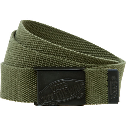 Skateboard These days it seems as if everything has to be all blinged out, but not the Vans Conductor Web Belt. Sport this with any pair of jeans or pants and stand out by not being the flashy poser. - $12.71