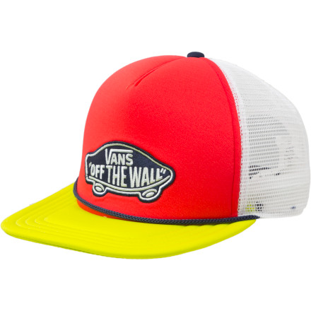 Skateboard The Vans Classic Patch Trucker hat thinks it wears many hats. We're not exactly sure how hats can wear other hats, but whatever...we just work here. - $19.95