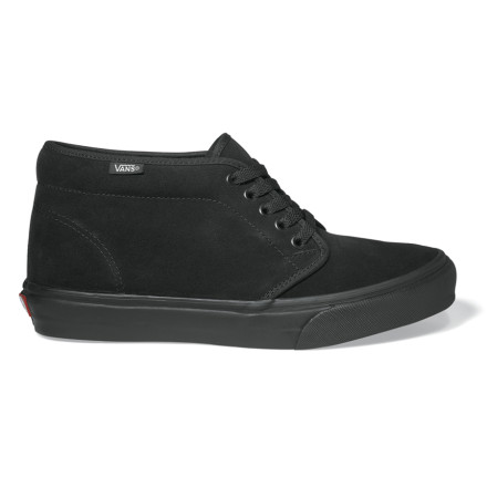 Skateboard Dig the high-top tip but arent sure such heights are for you The VANS Mens Chukka Boot is a low-key mid-top made for cold-kickin it. When you get lost on your way home from a patio party, the padded footbed and collar will cushion and support your feet to make your wayward trudging as comfy as can be. Whether or not youre full of brew, the Chukka Boots flexible sole makes for fancy walkin. - $41.97
