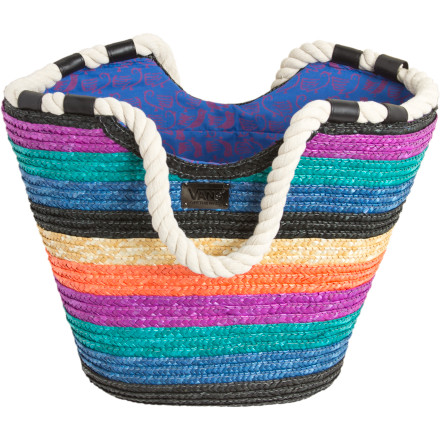 Skateboard You need some way to express the unspeakable joy you feel when heading to the beach. Where words fail, the Vans Beach Bird Tote Bag steps up. Bright, braided stripes, a bird-print lining, and thick, soft rope carry handles give form to your ocean-inspired glee. - $21.98