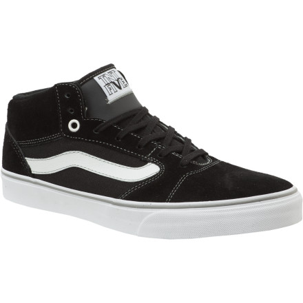 Skateboard The Vans TNT 5 Mid Skate Shoe was built upon a classic vulcanized design favorited by TNT. Then it was updated with toe-to-heel dual-density cushioning, an Impactsorb support insole, and a reinforced, super-durable leather upper. - $48.97
