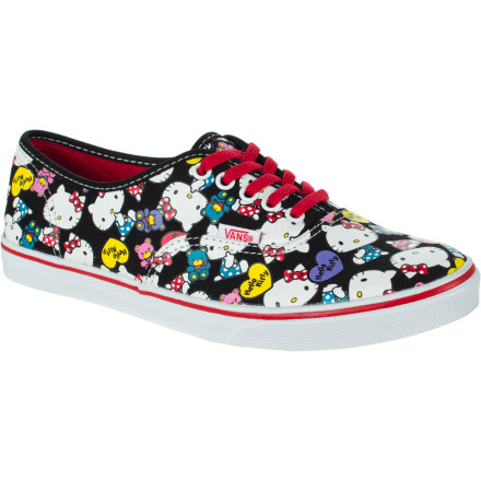 Skateboard The slim, streamlined Vans Lo Pro Shoe has long been a favorite for its low-profile looks (who would have thought!) and comfy construction. Take your collection to the next level with this special limited-edition Hello Kitty edition. - $16.49