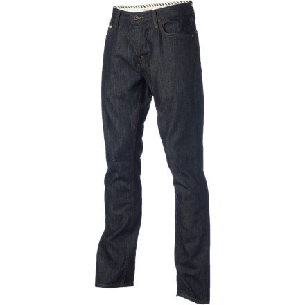 Skateboard Tired of the super-tight trend but don't want to ditch the modern look The Vans V56 Standard Denim Pant rocks a just-right fit that's comfy up top and tapered through the leg. - $49.45