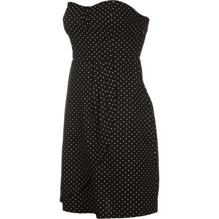 Entertainment The Vans Cherry Dress features a two-button tube design and a sassy yet classy mini polka-dot pattern. - $28.89