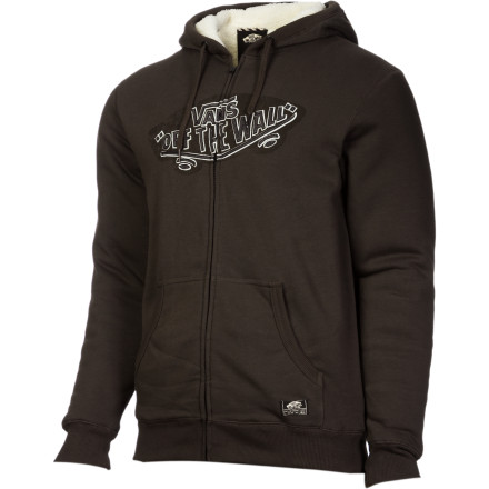 Skateboard The Vans Bennett Full-Zip Hoodie features a heavyweight Sherpa fleece lining to keep you nice and toasty all day long. - $59.56
