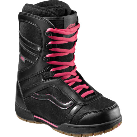Snowboard Whether you're ironing out the kinks that are part of the journey from beginner to intermediate or pressing the kinked handrails in the park, the Vans Women's Mantra Snowboard Boot packs in the comfort with  a fit developed around women's narrower heels and lower calves. - $111.93