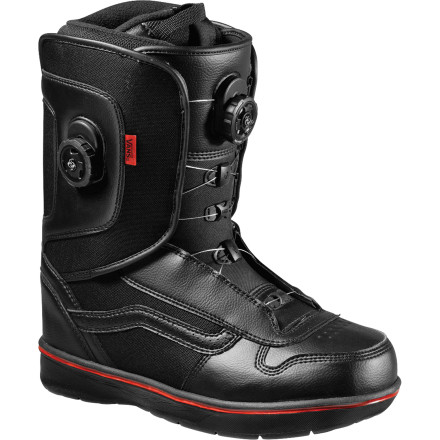 Snowboard The Vans Aura Boa Snowboard Boot knows that being a boot means being the single most important piece of equipment a rider owns. Everything starts at the feetfrom turning, to boned-out grabs, to mind-boggling jib combos. Whatever your riding style may be, all-day comfort, ease-of-use, and clean looks never go out of style. - $167.27