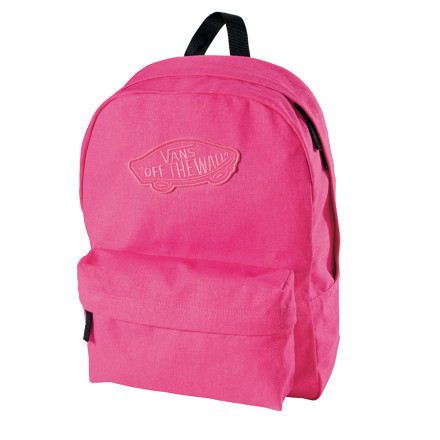 Camp and Hike The word 'basic' doesn't mean 'crappy;' and the fact that the Vans Women's Realm Backpack is basically rad is proof. A classic lower front pouch, top handle, and thin shoulder straps make this simple school pack the go-to choice for ladies who'd prefer that their outfits stand-out rather than the thing they use to carry stuff. - $24.47