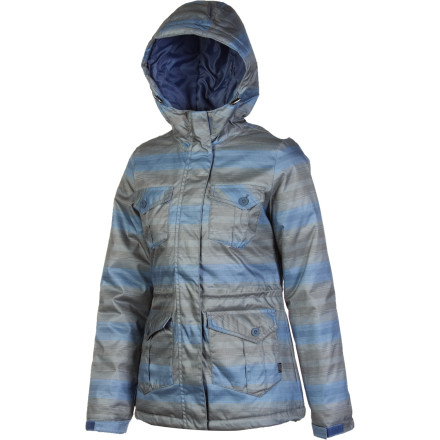 Skateboard The Vans Juxta Jacket proves that you don't have to choose between cute and cozy. Features a flattering shape and synthetic insulation to keep you warm when the thermometer dips. - $64.64
