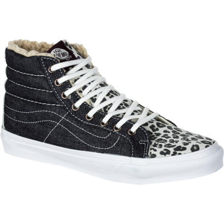 Skateboard Take it back to the old school in the Vans Sk8-Hi Slim Women's Skate Shoe. It has a classic Vans style that's been slimmed down for a more feminine look. - $32.48