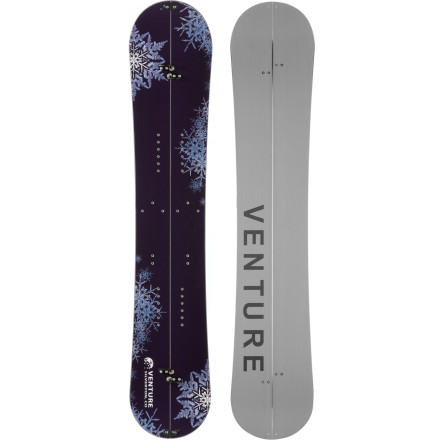 Snowboard Access runs you've only ever dreamed about with the Venture Zephyr Split Snowboard. Its poplar and ash core is lightweight for a reduced load while skinning up, and it's poppy and responsive on the way down. Karakorum hardware offers a new splitboarding experience by more firmly securing the two halves so you can drop cliffs and shred hairy lines with more confidence. - $537.00