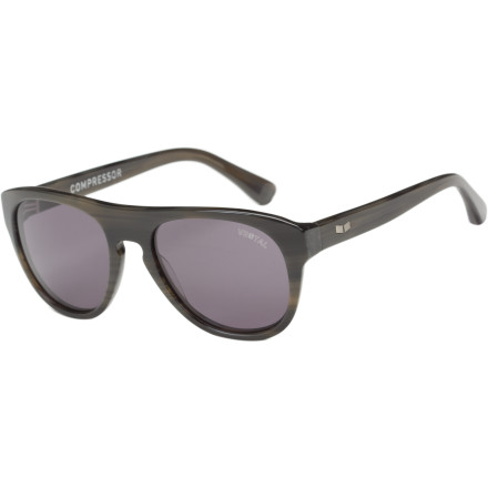 Entertainment Hop in your roadster, flip your scarf back, and hit the road with the vintage-styled Vestal Compressor Sunglasses. Lightweight acetate frames with reinforced construction make the stylish Compressor comfortable and durable for whatever adventures await you. - $50.97