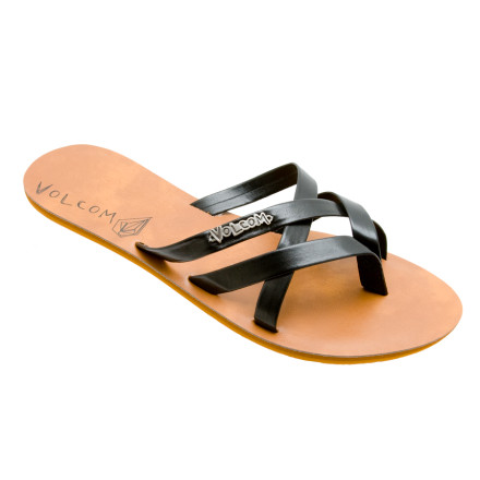 Entertainment Ditch your old jelly sandals and slip the fresh style of the Volcom Womens New School Creedlers Sandal between your toes. The polyurethane straps and smooth EVA sole keeps your pitter-patters nice and comfy while you weep and burn those age-old monstrosities over an open flame. - $14.37