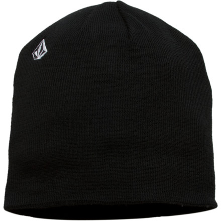 Snowboard Clean as you want the Volcom Men's Woolcott Beanie features only a simple Stone embroidery and soft, warm acrylic fabric. You'll find no lame bells and whistles here. If you want a fake purple Mohawk or some crazy pattern that makes your eyes hurt to look at, then definitely don't get the Volcom Woolcott Beanie. - $14.97
