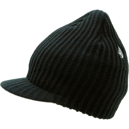 Surf Pull on the Volcom Full Stone Visor Beanie and take a ride through history. This 100%-acrylic knit beanie takes you back to the glory days of roastbeef grabs, slob airs, and gauntlet gloves. - $11.97