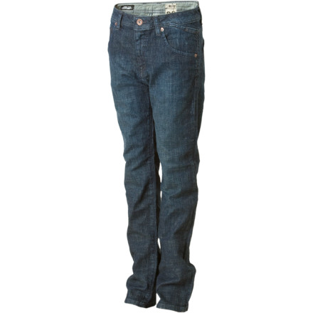 Surf Volcom's Nova Denim Pants for Boys don't mind that you haven't quite perfected your kickflip technique yet. As a matter of fact, they just like being out there in the driveway with you as you practice. If you listen closely, you can hear them offering words of encouragement. - $21.98