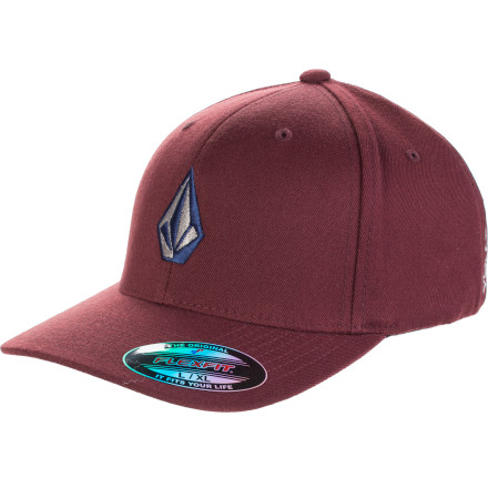 Skateboard Need a hat No sweat. The Volcom Full Stone 6277 Baseball Hat is there with basic good looks and colors to match every mood. Flexfit rear, curved brim. Solid. - $22.95