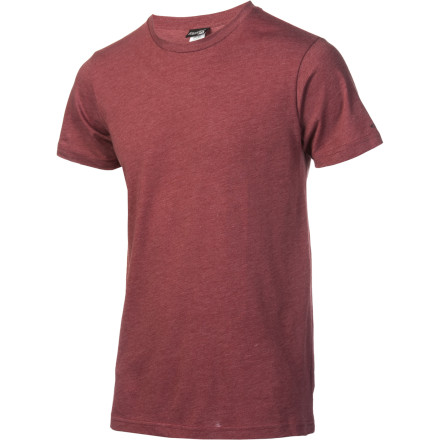 Surf The uber soft material of the Volcom Solid Heather Men's T-Shirt is sinfully comfortable. If that begins to weigh on your conscience we suggest hitting up a confessional. - $9.98