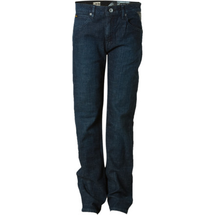 Surf Just because your guy is isnt very big, it doesnt mean that he cant rock big style in the Volcom Toddler Boys Nova Denim Pants. The slim fit and studded pocket design dial in grown-up attitude and offers durability to stand up to his brand of wear and tear. - $22.77