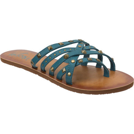 Entertainment Skip the heels and slip on the Volcom Women's Here To Stay Creedler Sandal. With a rocker-chick vibe and a strappy, comfortable style, this sandal lets you cruise from dance clubs to late-night tapas bars without stopping to rest your feet. - $17.48