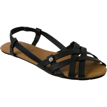 Entertainment What better way to dress up your outfit than with a pair of the Volcom Women's Heavenly Creedler Sandals Its faux leather straps, cute design, and comfortable footbed get you ready for a night of dancing with the gals. - $23.16