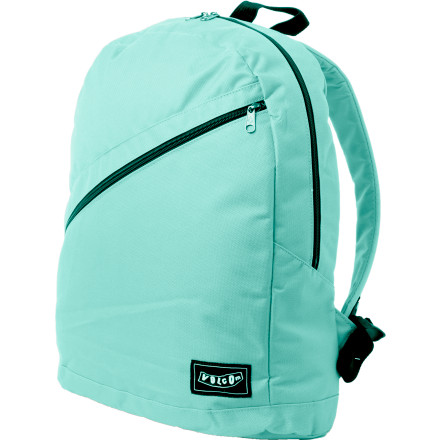 Camp and Hike A smooth and simple style won't keep junior from landing that new trick he's been practicing. Homework, lunch, and other such things stay safe in the durable nylon Volcom Simple Stone Backpack pack that inevitably gets tossed aside at the skate park after school. - $22.37