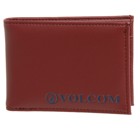 Surf Instead of tying a rubber band around your wad of cash, stuff it into the Volcom Men's Serif 2F Bi-Fold Wallet. It has multiple slot pockets to keep your plastics organized and a clear sleeve to secure your ID. - $19.95