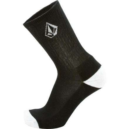 Fitness Tube socks are so soccer-player. Time to upgrade his style to the Volcom Boys Full Stone Sock. A logo on the calf lets them know who he rides for, and a little color over the toe and heel makes it harder for him to put them on upside-down. - $7.61