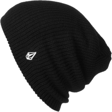 Surf The Volcom Power Beanie features a slouchy fit and ridiculously soft cashmere-like acrylic fabric to keep your noggin cozy and comfy both on and off the hill. - $10.77