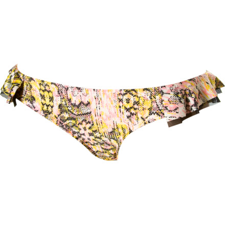 Surf Slip into the Volcom Women's Lazy Days Lace Modest Bikini Bottom, toss on your cover-up, and head to the beach for some sun. Thanks to this relatively modest bikini bottom, you'll feel free to cliff dive, swim, and surf without fear of showing off too much skin. - $18.98