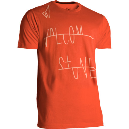 Surf Exorcise the demon while you're wearing the Volcom Men's Scribs Slim Fit T-Shirt. We won't be held responsible if you're head starts spinning around in circles though, that part is up to you to control. - $14.37