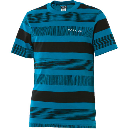 Surf The best time in a young man's life could be the summer trip when he wears the Volcom Boys' Strizipe T-Shirt and has to choose between the beach-side arcade, the roller coaster, or the go carts. - $16.77