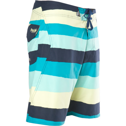 Surf If you're looking for a board short with a slightly slimmer profile that won't hang up on your knees when you pop up onto your surfboard, the Volcom Maguro Stripe Board Short delivers. - $24.72