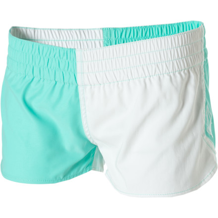 Surf Get retro running-short style and low-key, quick-drying comfort with the Volcom Foster Gals 2in Board Short. These little boardies give you enough coverage to increase your confidence in big waves, but they won't ruin the fun of wearing a cute bikini. - $23.67