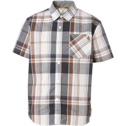 Surf Get your kid started on the path to future player-dom with the Volcom Ex Factor Plaid Shirt. - $17.08